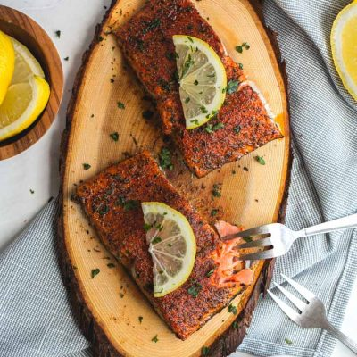 Cedar Plank Blackened Salmon