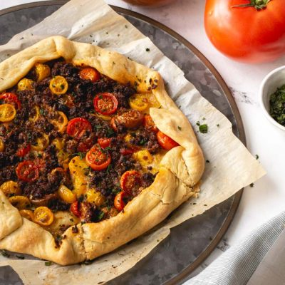 Impossible Italian Sausage and Tomato Galette