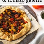 #AD This Italian sausage and tomato galette uses impossible meat and other vegan ingredients to make a totally plant-based meal. It's packed full of flavor and perfect for brunch, lunch or dinner. #Safeway